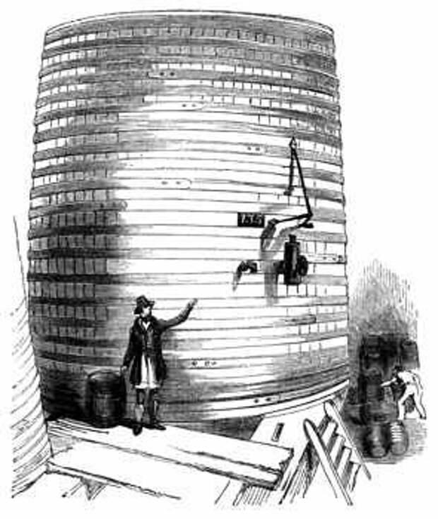Пивоварный чан. Рисунок 19 века