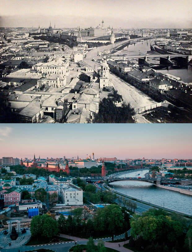 Москва сто лет назад и сейчас