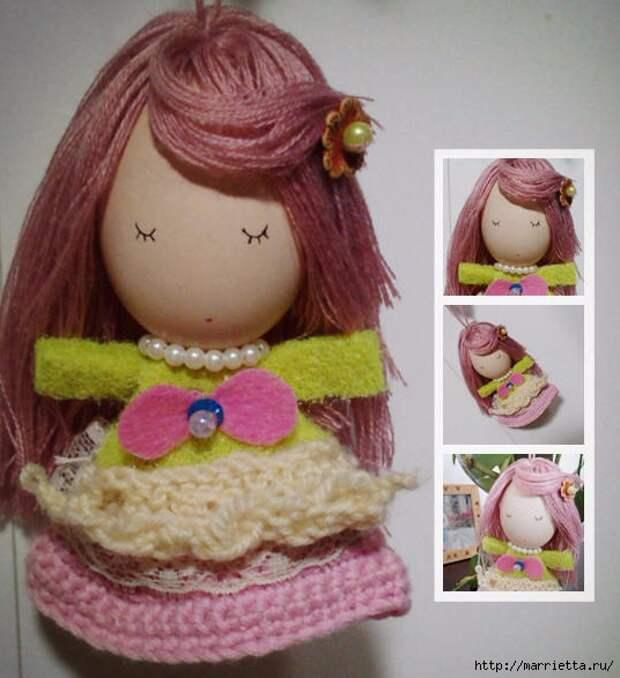 Фото мастер-класс по созданию маленькой куколки из куриного яйца