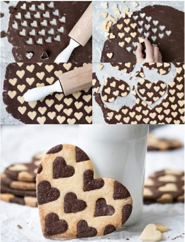 Печенье в сердечный горошек (diy)