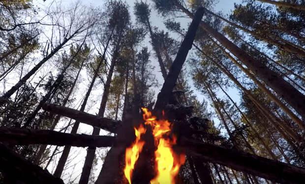 Костер-автомат: горит всю ночь без подкидывания дров