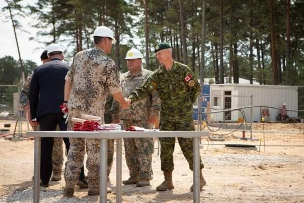 Под Ригой строят новые казармы для солдат НАТО