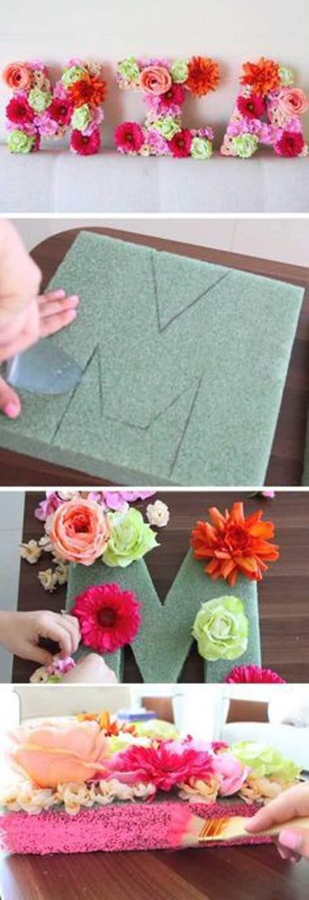 Цветочные слова (diy подборка)