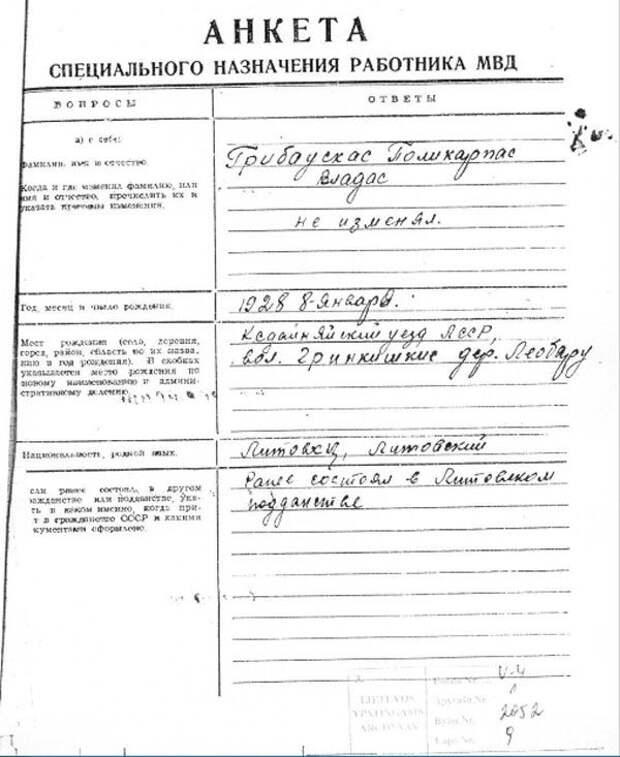 Грибаускайте лжёт, заявляя, что её отец и дед были сосланы в Сибирь