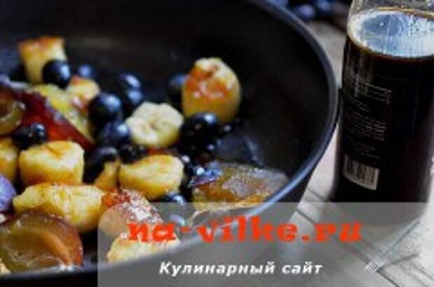 Пьяные фрукты в кофейном сиропе