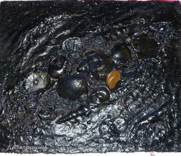 Картина панно рисунок Мастер-класс Коллаж Коллаж в технике терра Мастер-класс Морское дно с креветками Материал природный фото 14