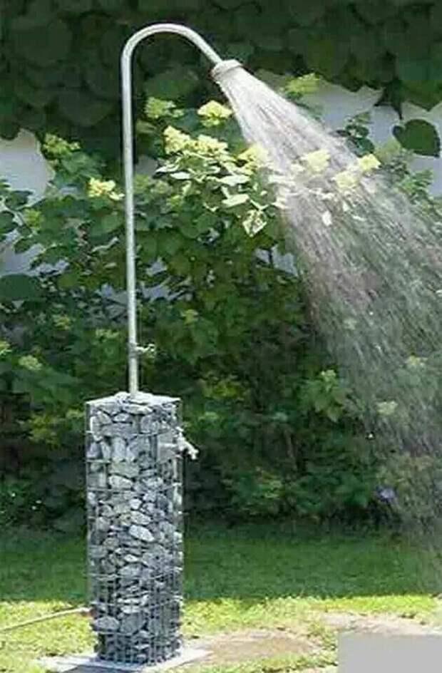 Даже душ можно приспособить Фабрика идей, дача, рабица, секта, советы, способы, участок