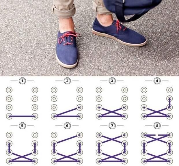 Квадратная шнуровка (DIY)