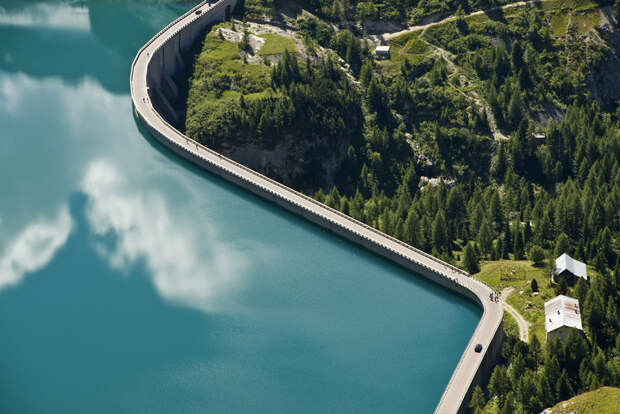 Плотина в Trentino. Италия интересное, фото, фотоподборка