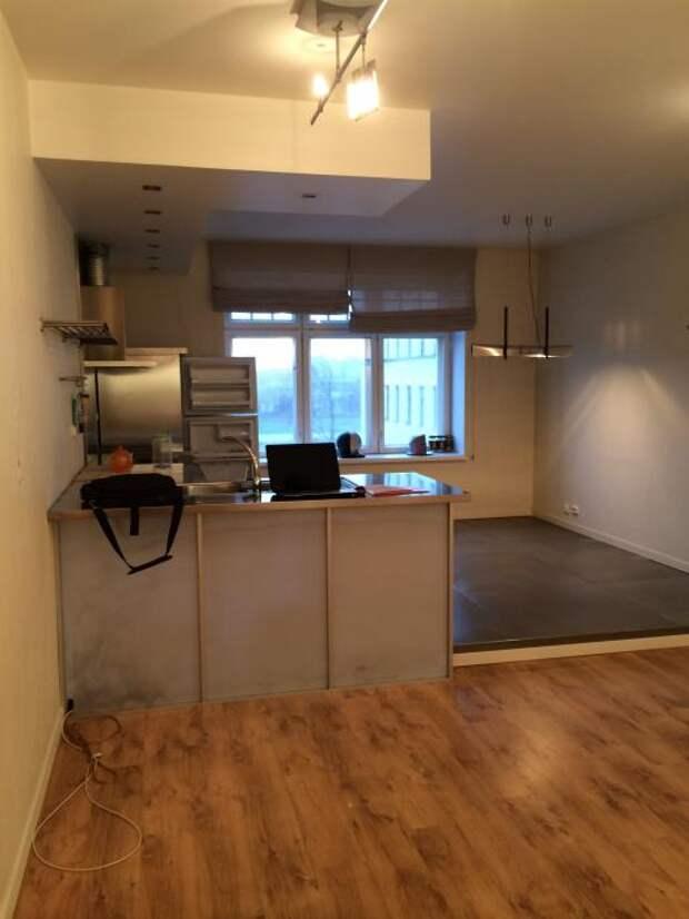 Отделка квартиры, кухня с эркером