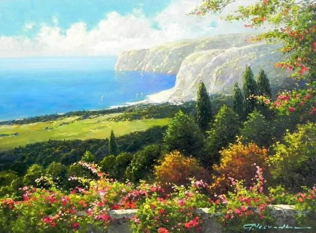 Художник Gerhard Nesvadba. Красота мира делает человека счастливым