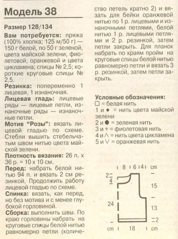 Летние модели спицами с розочками для девочек (5) (358x479, 215Kb)