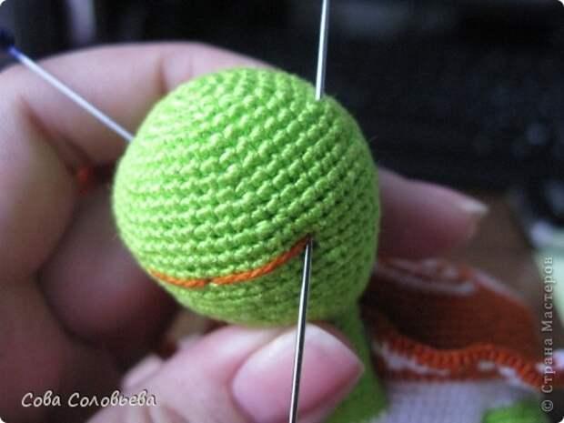 Игрушка Мастер-класс Вязание крючком изготовление Черепашки Пряжа фото 26