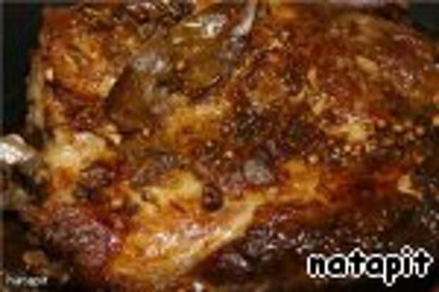Мясо в универсальном маринаде запеченое целым куском Свинина