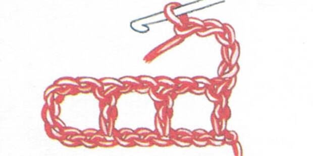Филейная сетка с пустыми и заполненными клеточками, выполненная столбиками с накидом (фото 3)