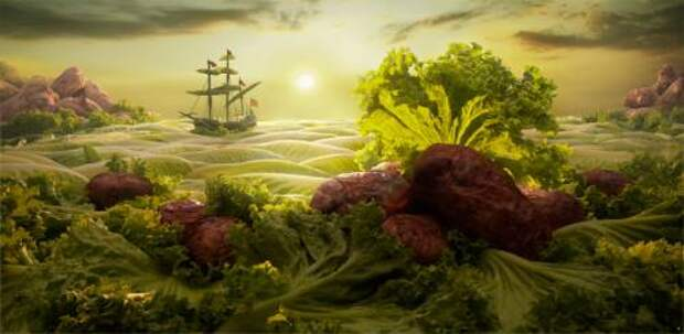 Мир, созданный из еды