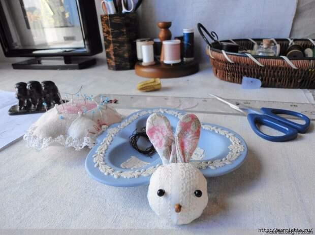 Лоскутное шитье. Кошелек с кроликом (18) (700x524, 289Kb)