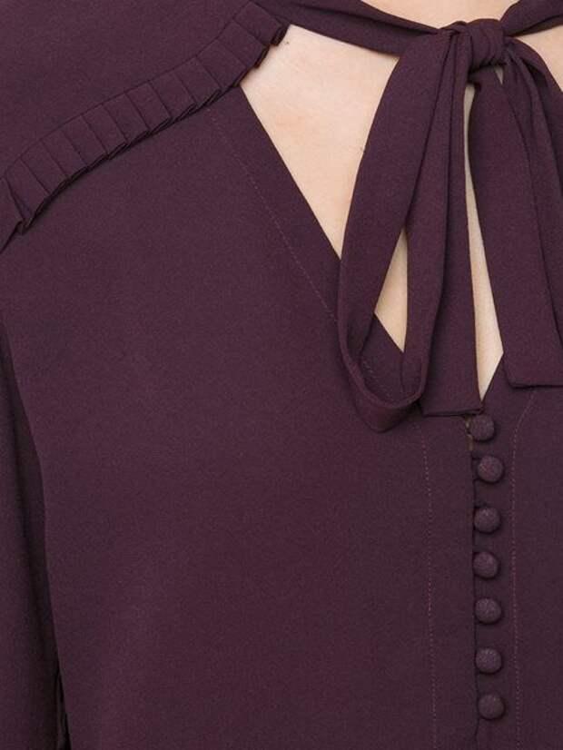 Идеи оригинального оформления верха блузок и платьев 8