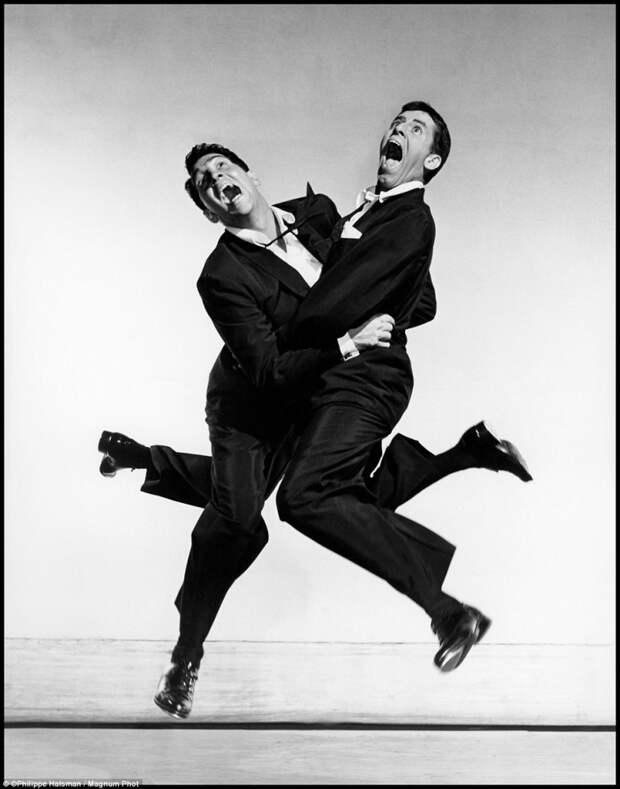 Американский дуэт комиков Дин Мартин и Джерри Льюис.