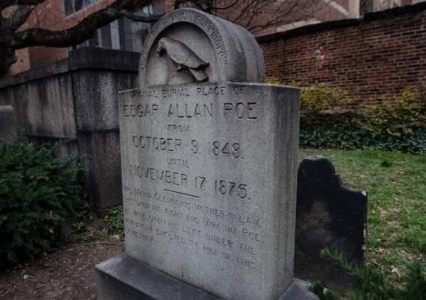 Место, где покоился прах писателя с момента гибели до 1875 г.