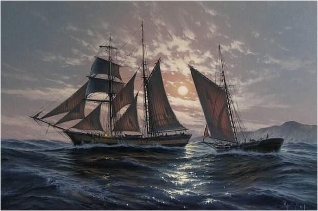 Марины от польского художника Марека Рузик (Marek Ruzyk).