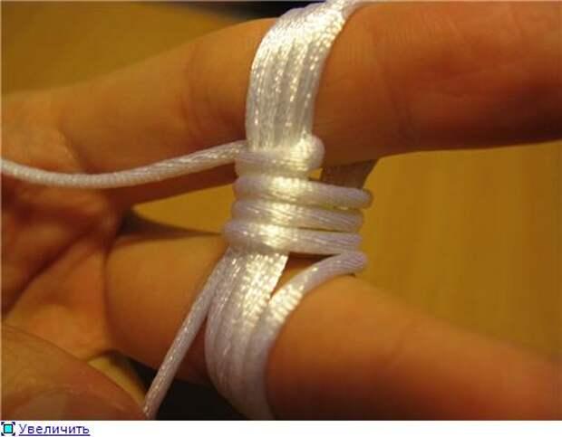 Плетёная пуговица из шнура