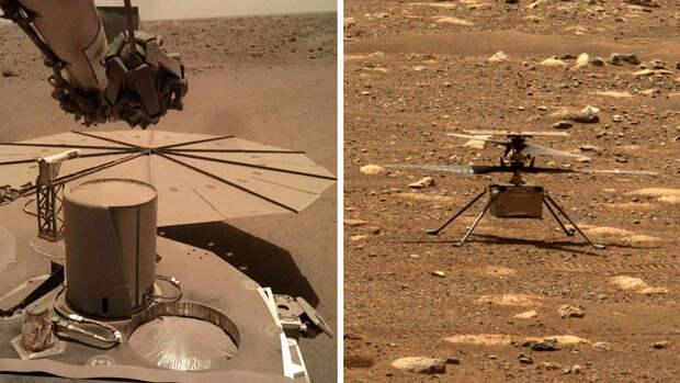 В NASA рассказали о проблемах с марсианским лендером и вертолетом