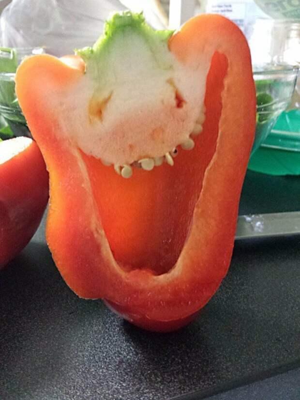 15 доказательств того, что перец - самый эмоциональный овощ из всех существующих angry pepper, things that look like faces, злой перец, лицо, смешные овощи, юмор