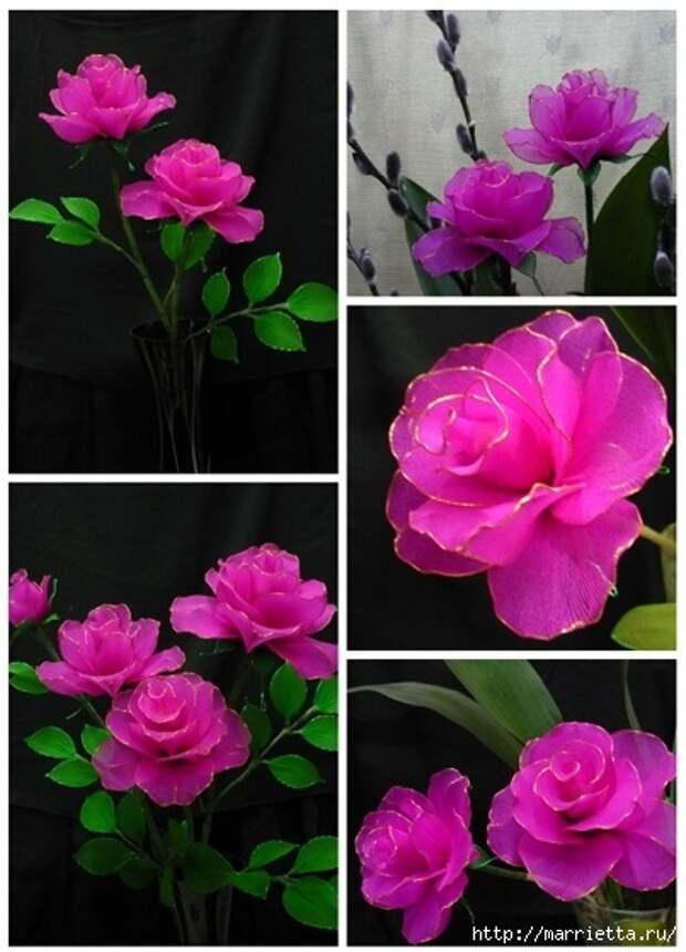 Розы из капрона. Красивые идеи и мастер-класс (1) (403x559, 157Kb)