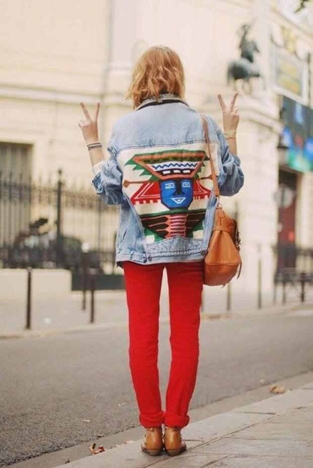 Три необычные джинсовки