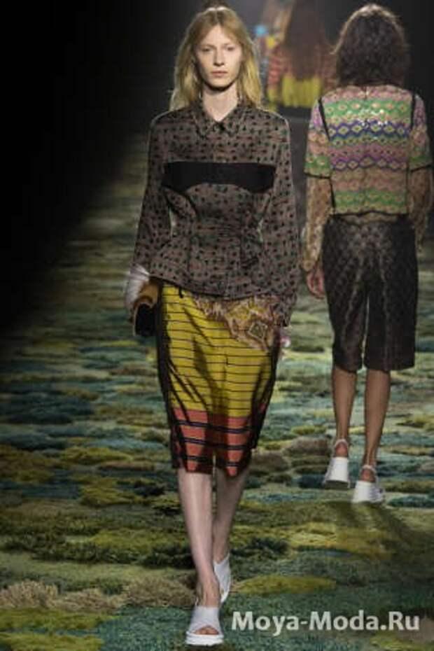 Модные юбки весна-лето 2015 Dries Van Noten