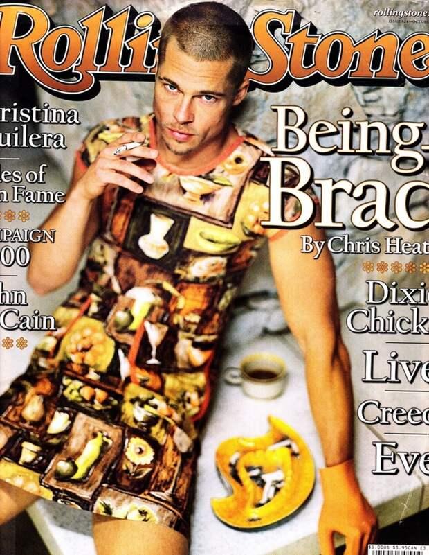 Брэд Питт и другие звезды-мужчины в платьях: что это было?