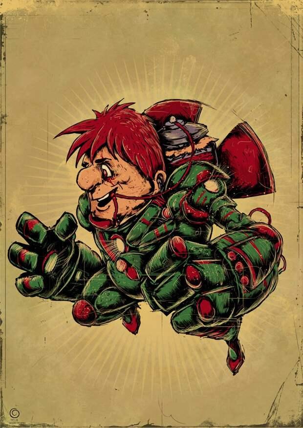 Любимые герои детства в жутких иллюстрациях Богдана Тимченко.