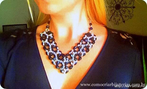стильное ожерелье из бисера и кристаллов. мастер-класс (2) (570x347, 171Kb)
