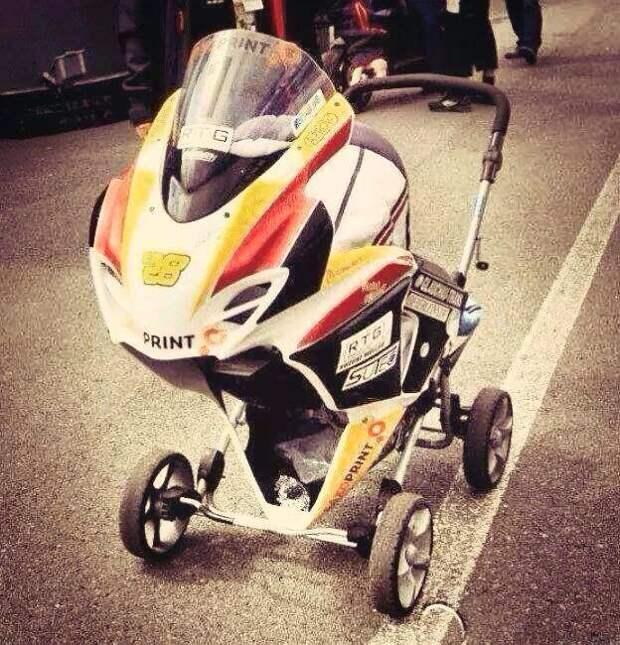 8. Будущий мотоциклист. детские коляски, креатив, родители