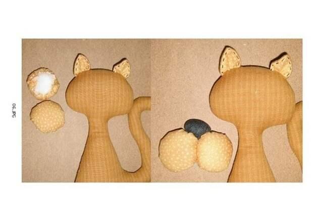 Шьём игрушки: коты, мыши (очень простые)