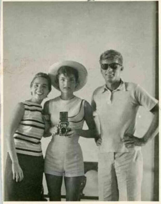 Джон Ф. Кеннеди и Жаклин Кеннеди, президент и первая леди США, 1954 звезды, люди, фото