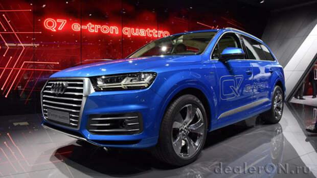 Дизель-электрический плагин гибрид Audi Q7 E-Tron Quattro дебютировал на Женевском автосалоне