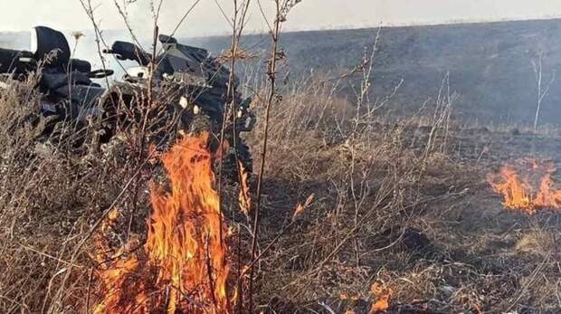 Тушили всем миром: сухая трава загорелась врайоне птицефабрики вПавловском районе