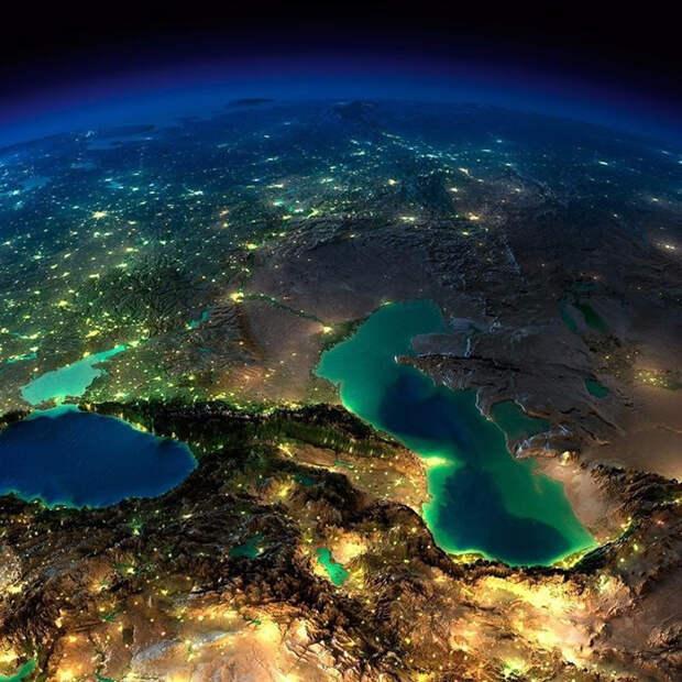 Захватывающий вид на Землю из космоса