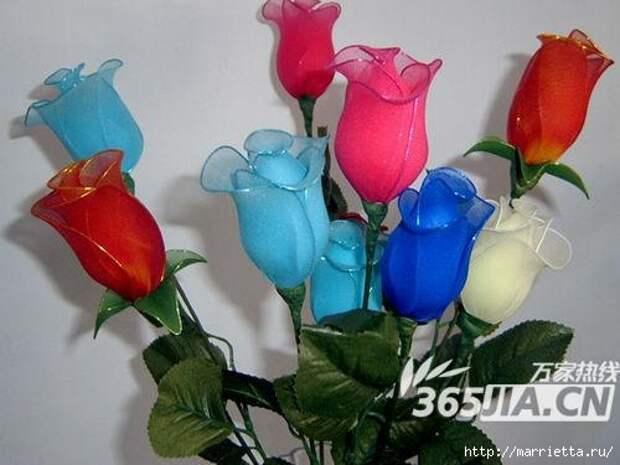 Розы из капрона. Красивые идеи и мастер-класс (59) (500x375, 96Kb)