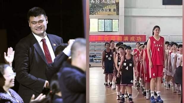 Видео с 2-метровой 14-летней китайской баскетболисткой стало вирусным. У соперниц не было шансов (Видео)