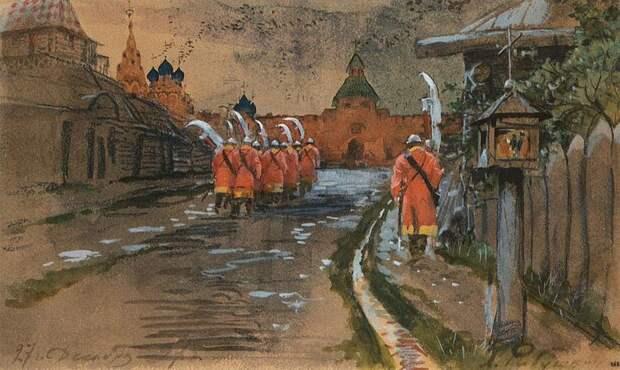 File:Стрелецкий дозор у Ильинских ворот в старой Москве.jpg