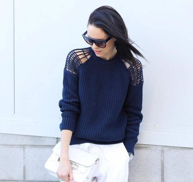 Street style идеи необычных вязаных свитеров для вдохновения