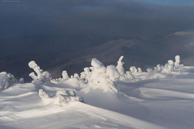 Зима в Горганах