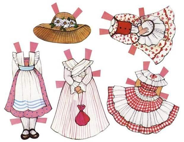 Бумажные куколки с одеждой