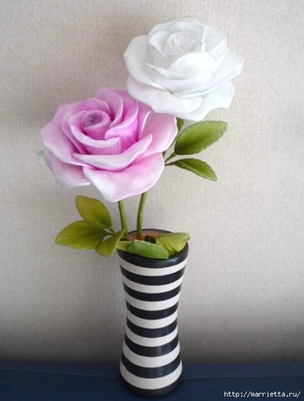 Розы из капрона. Красивые идеи и мастер-класс (53) (478x630, 148Kb)