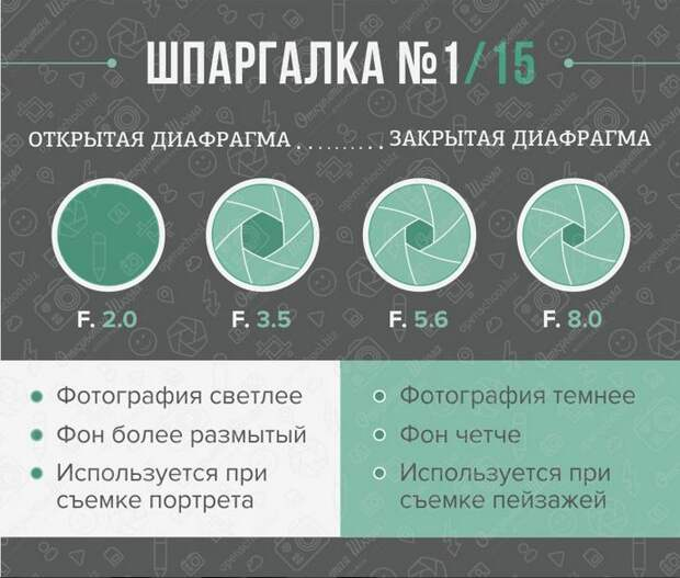 Шпаргалка для фотографов: вспышка, фон и диафрагма для чайников, фотография