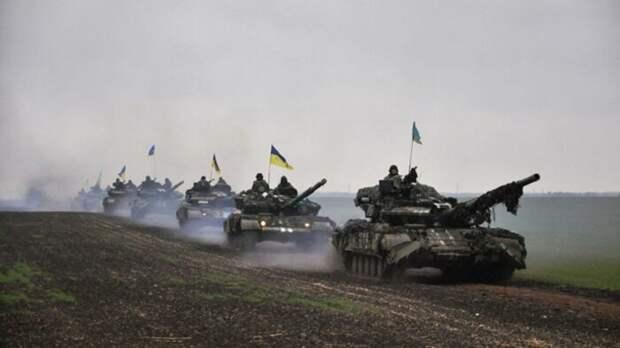 Украина уже перебрасывает танки с Донбасса на российскую границу в Крыму
