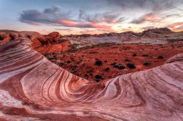 Долина огня в пустыне Мохаве, США, штат Невада природа, пустыня